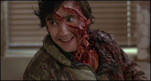 Griffin Dunne maquillado por Rick Baker en UN HOMBRE LOBO AMERICANO EN LONDRES