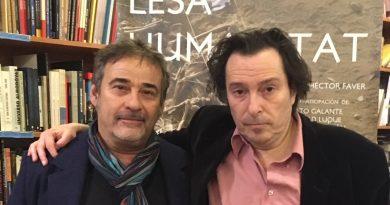 Eduard Fernández y Hector Fáver en la promoción de LESA HUMANITAT
