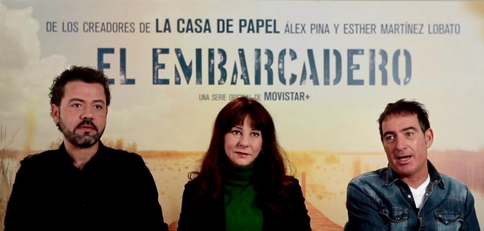 Jesús G. Colmenar, Esther Martínez Lobato y Álex Pina  en El Embarcadero