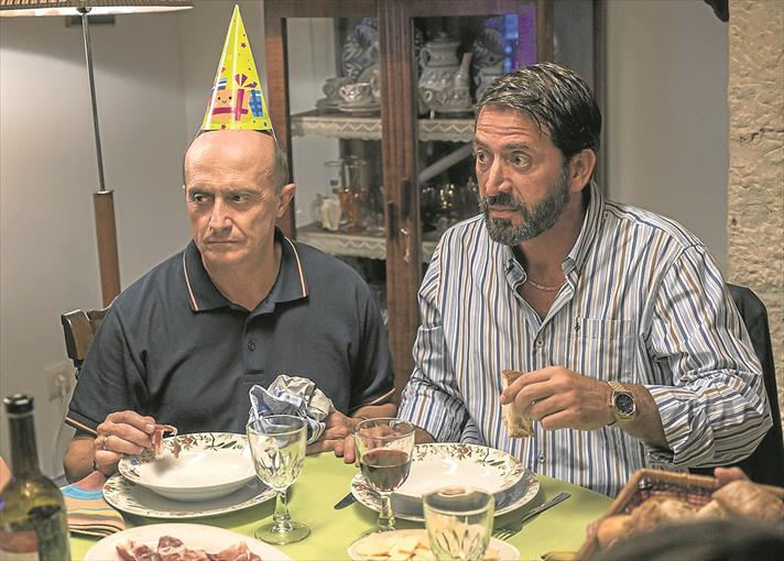 Pepe Viyuela y Antonio Garrido en un momento de MATADERO