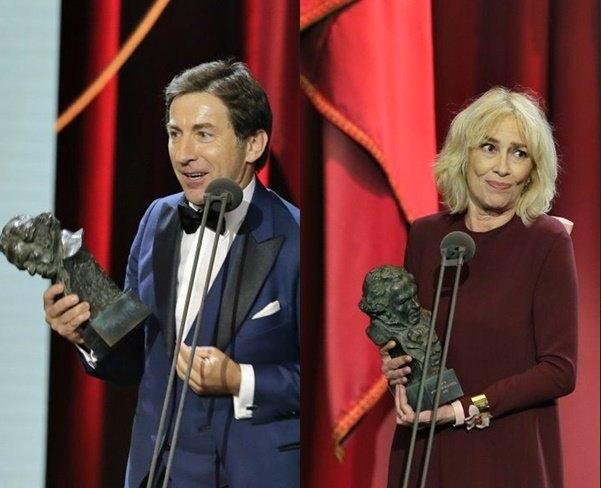 De la Torre y Susi Sánchez  en los premios Goya 2019