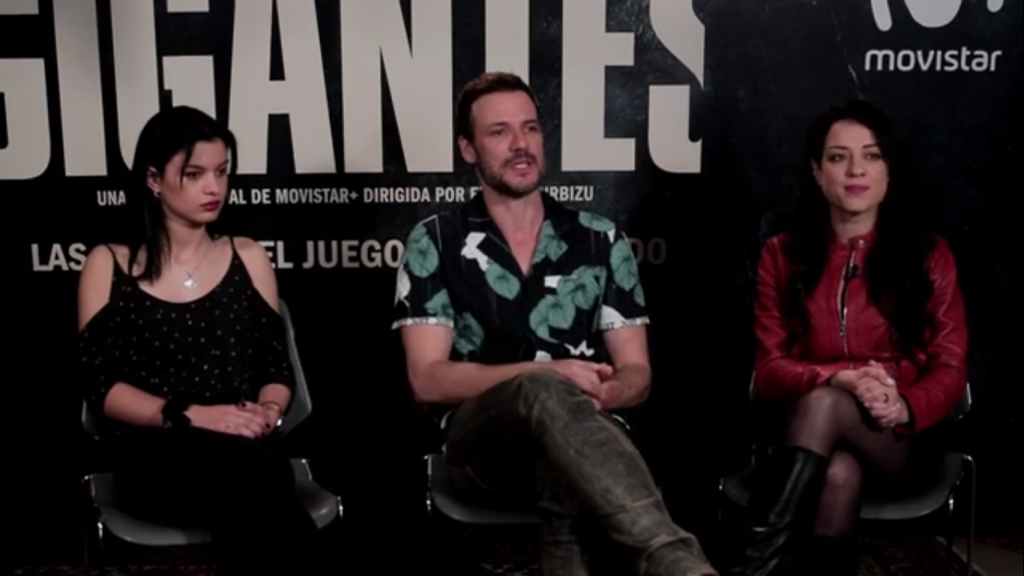 Sofía Oria, Daniel Grao y Yolanda Torosio, intérpretes de GIGANTES