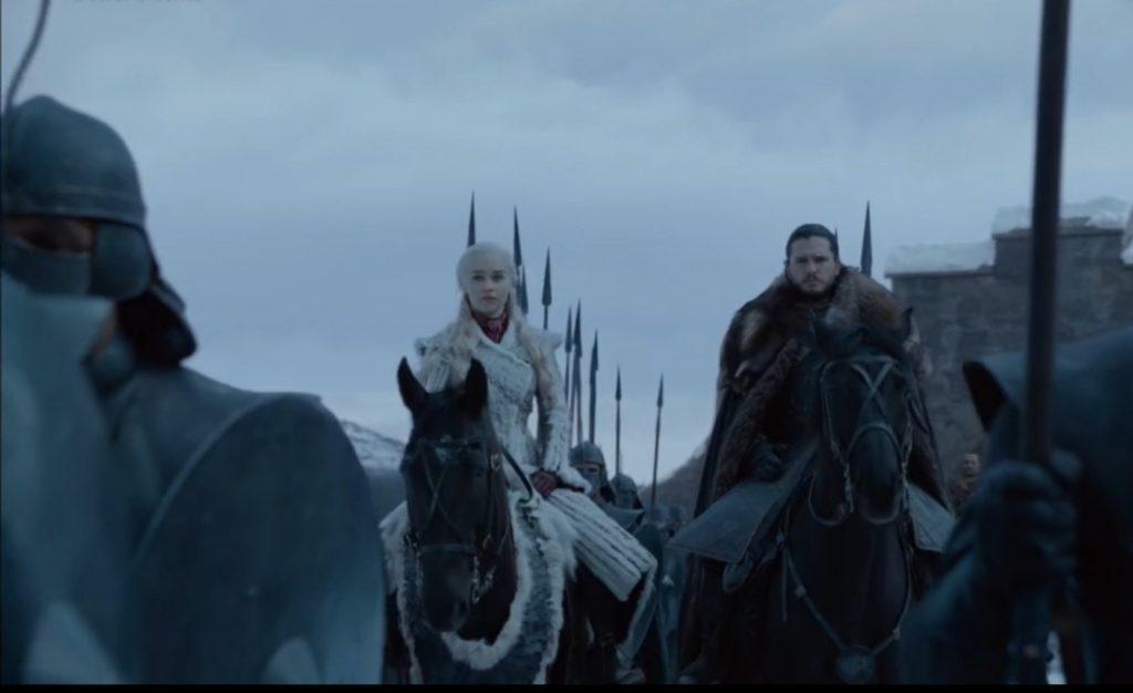 La nueva pareja y alianza en Juego de Tronos Khaleesi y Jon Snow