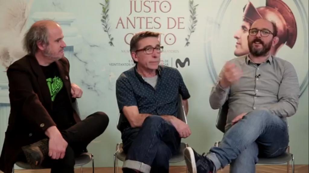 Juan Maidagán, Pepón Montero y Borja Cobeaga