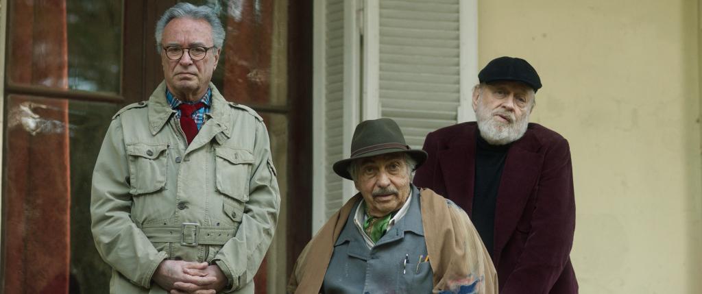 Óscar MArtínez, Luis Brandoni y Marcos Mundstock