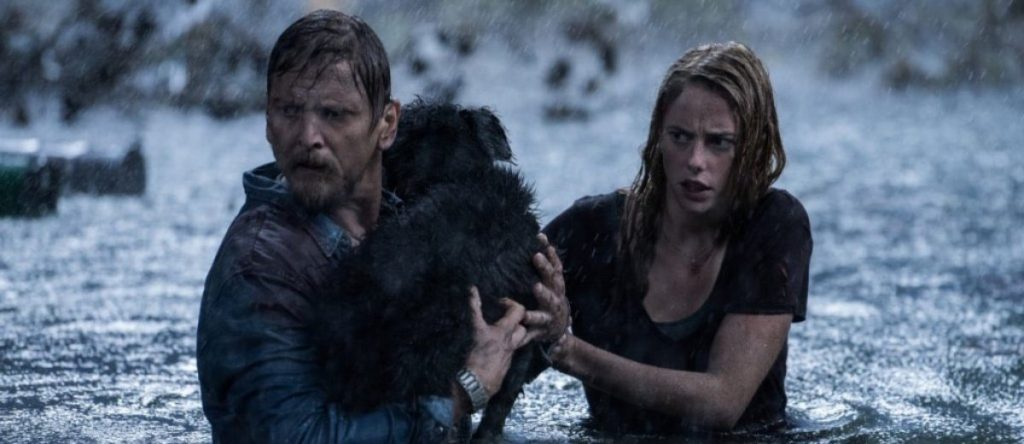 Haley, Dave y el perro en Infierno bajo las aguas