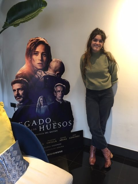 Amaia está encantada con su trabajo para LEGADO EN LOS HUESOS