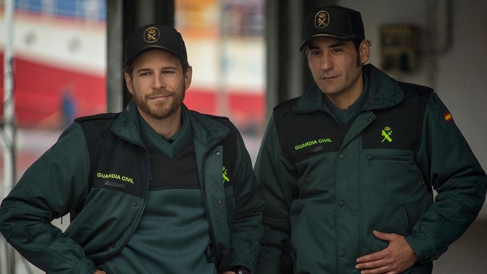 Álvaro Cercantes y Jesús Carroza, dos Guardia Civiles en la Valla de Melilla. ADÚ
