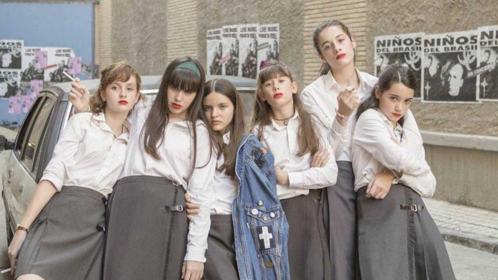 Las niñas en una fotografía de promoción de la película