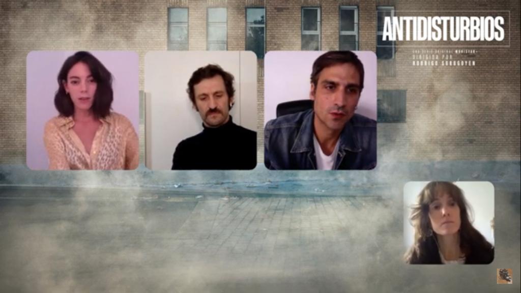 Vicky Luengo, Raúl Arévalo y Rodrigo Prieto - Serie Antidisturbios