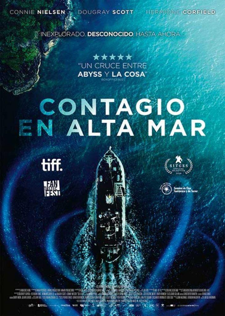 Portada de la película Contagio en alta mar