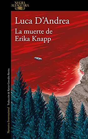 LA MUERTE DE ERIKA KNAPP., de Luca D´Andrea. Portada de la novela.