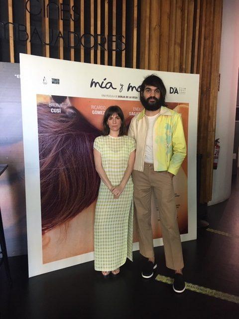 Bruna Cusí y Eneko Sagardoy en la presentación de la película Mía y Moi